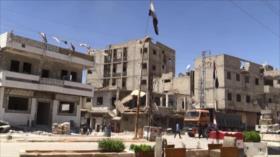 Centenares de familias vuelven a sus hogares en el sur de Damasco