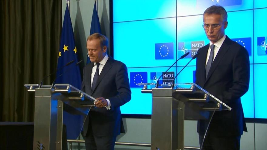Se celebra cumbre de OTAN en Bruselas en medio de tensión con EEUU   HISPANTV