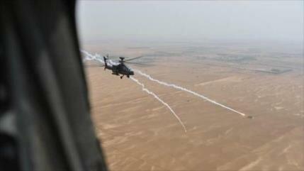 Vídeo: Helicóptero Apache saudí dispara contra sus tropas en Yemen