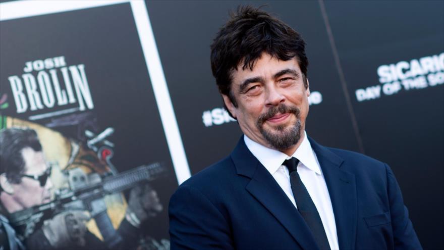 El actor puertorriqueño Benicio Del Toro asiste al estreno de una película en Los Ángeles, 26 de junio de 2018.