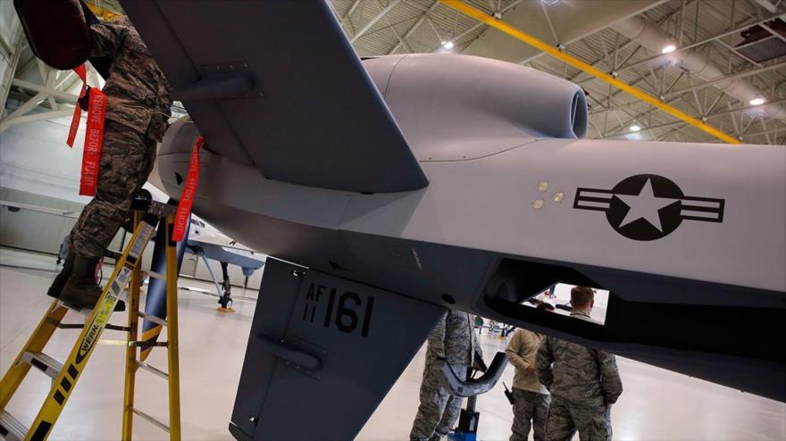 Un dron MQ-9 Reaper estadounidense en la Base de la Fuerza Aérea Creech en Indian Springs (Nevada), 17 de noviembre de 2015.