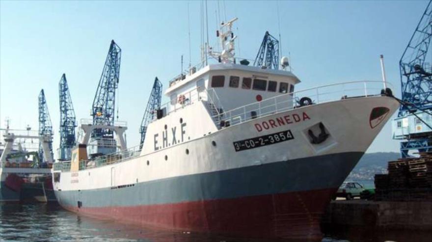 """Buque pesquero """"Dorneda"""", de la empresa Freiremar."""