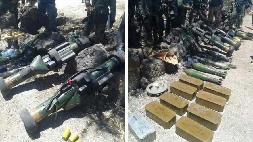Ejército sirio confisca a terroristas armas antitanque francesas
