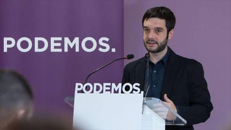 El portavoz del Grupo Parlamentario de Unidos Podemos en la Comisión de Asuntos Exteriores del Congreso, Pablo Bustinduy.