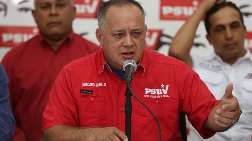 El presidente de la Asamblea Nacional Constituyente de Venezuela Diosdado Cabello