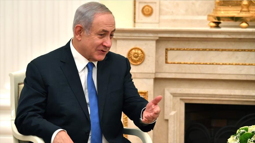 El primer ministro israelí, Benjamín Netanyahu, habla durante una reunión en el Kremlin en Moscú (capital rusa), 11 de julio de 2018.