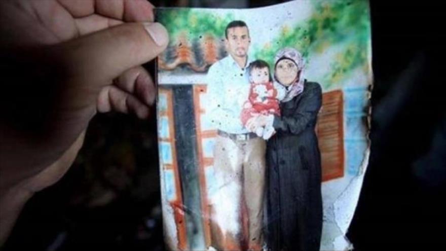 Una foto de la familia Dauabsha, asesinada por un colono israelí en julio de 2015.