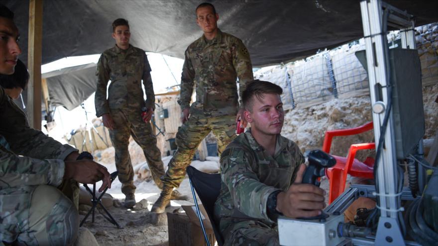 Soldados estadounidenses en un puesto de control en el este de de la provincia afgana de Nangarhar, 7 de julio de 2018.