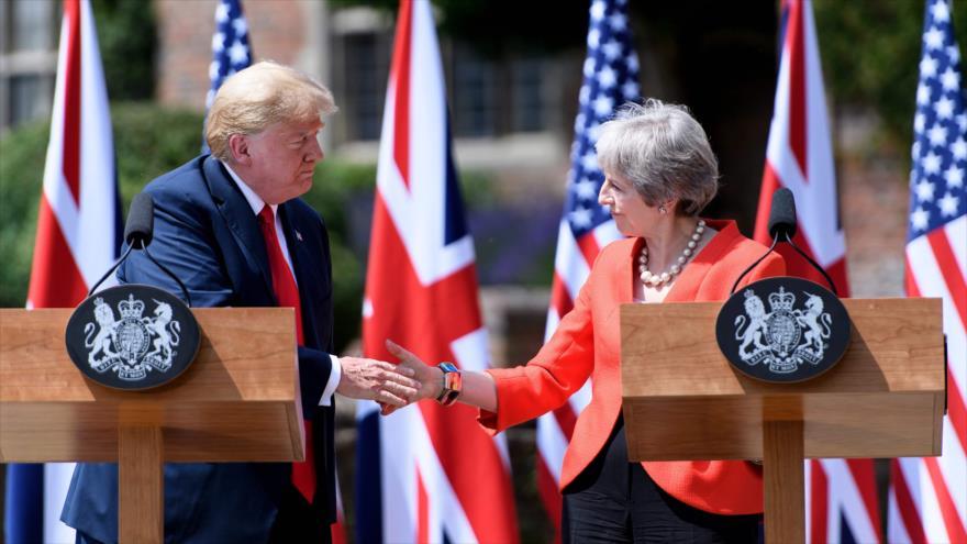 Trump y May acuerdan mostrar 'fuerza' a Rusia y presionar a Irán