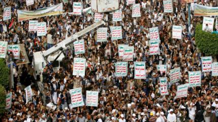 Miles de yemeníes protestan por arrogancia de EEUU e Israel