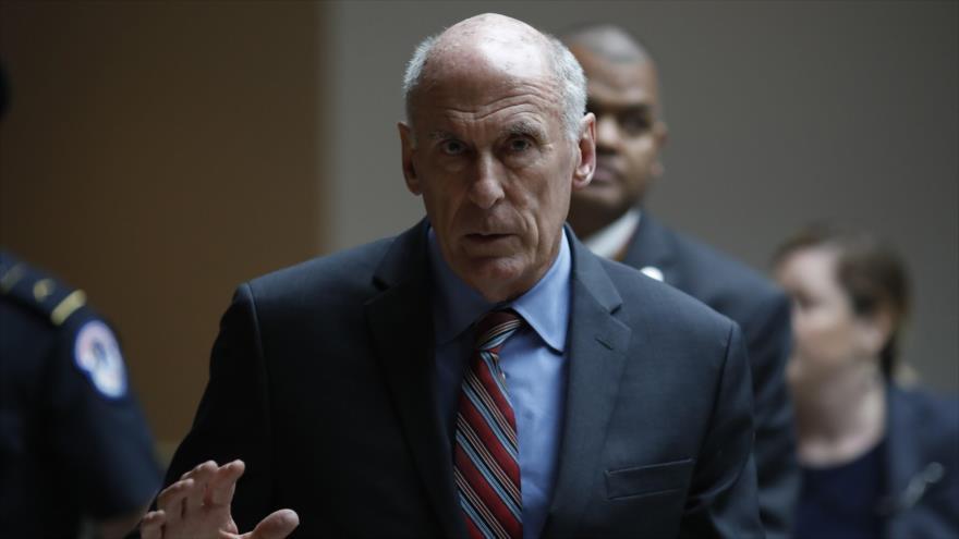 El director de la Inteligencia Nacional de EE.UU. (DNI, por sus siglas en inglés), Dan Coats, habla en una reunión en Washington, 22 de mayo de 2018.