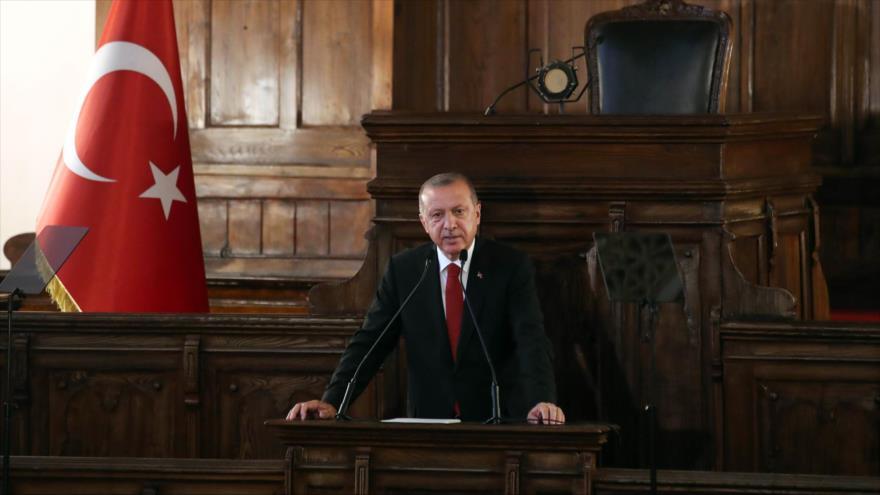 El presidente de Turquía, Recep Tayyip Erdogan, Ankara, la capital, 13 de julio de 2018.