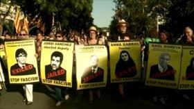 Catalanes exigen a Sánchez retirar cargos contra presos políticos