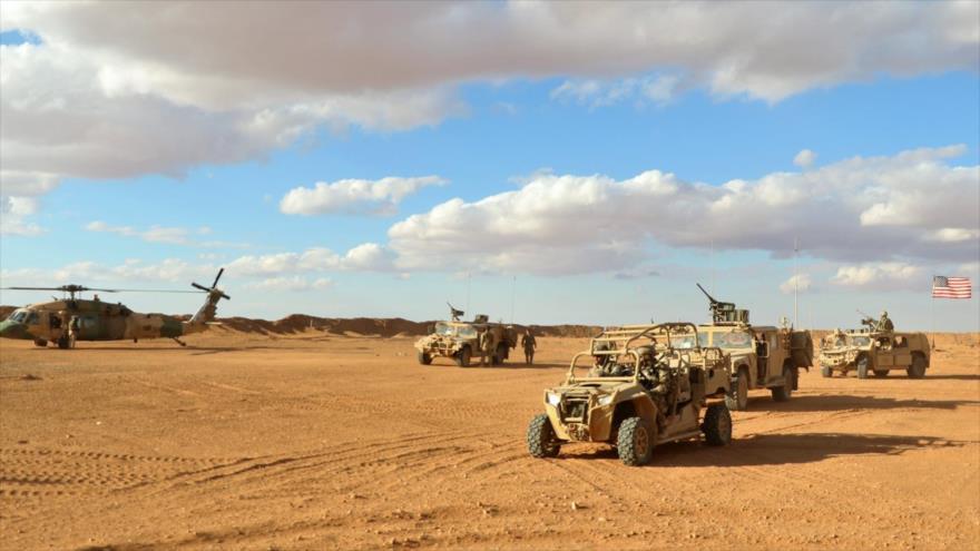 Fuerzas estadounidenses desplegadas en la base militar de Al-Tanf, en Siria, 11 de noviembre de 2017.
