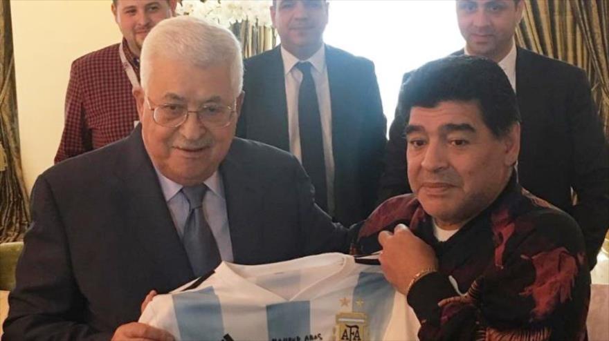"Maradona a Abás: ""Yo soy de corazón palestino"""