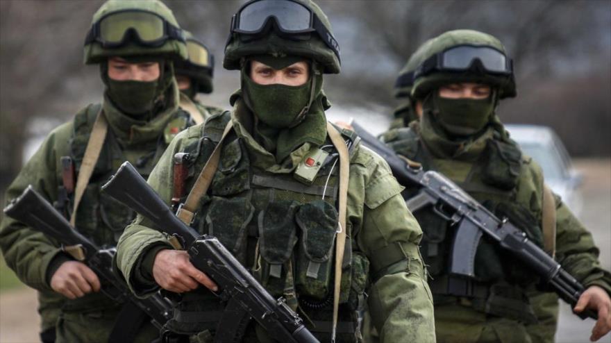 Los soldados del Ejército de Rusia.