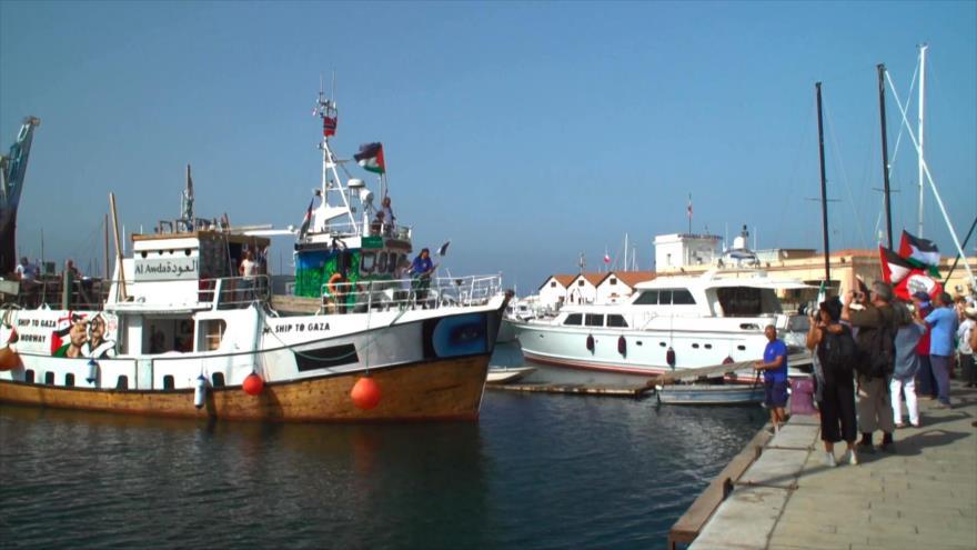 La flotilla solidaria con Gaza llega a Palermo