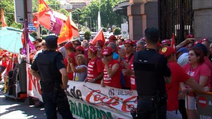 Trabajadores españoles de Coca-Cola se movilizan por sus derechos