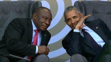 Obama denuncia política de Trump en centenario de Nelson Mandela