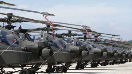 Taiwán despliega 15 Apache en medio de tensiones con China