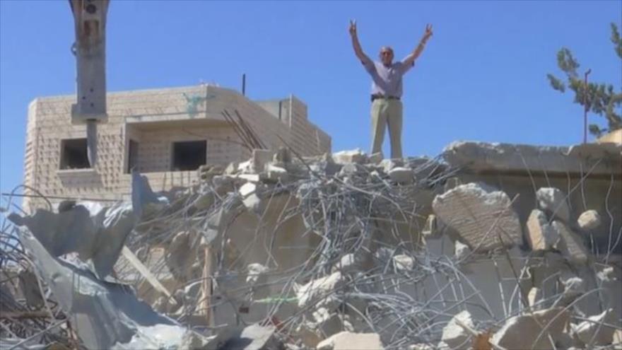 Vídeo: palestinos destruyen sus casas antes de dejarlas para colonos