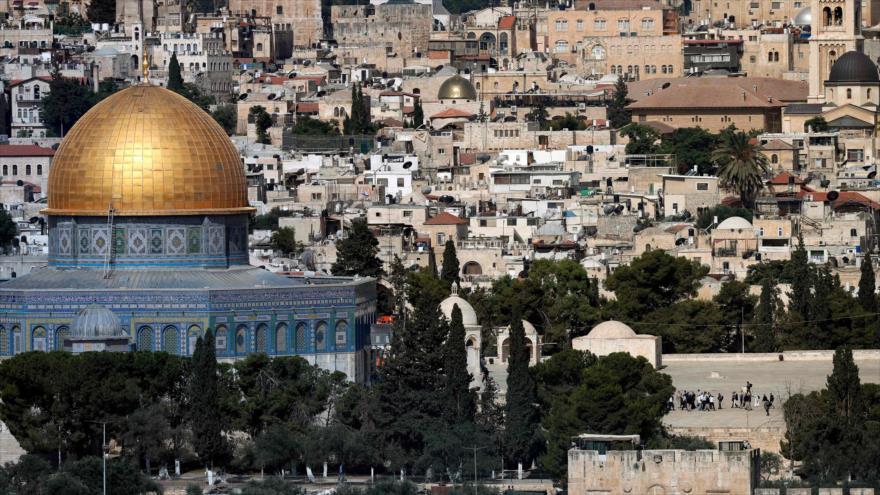 El complejo de la mezquita Al-Aqsa en la ciudad ocupada palestina de Al-Quds (Jerusalén), 28 de junio de 2018.