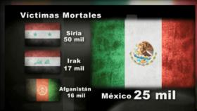 Desde México: México violento, se registran más homicidios que en países en guerra