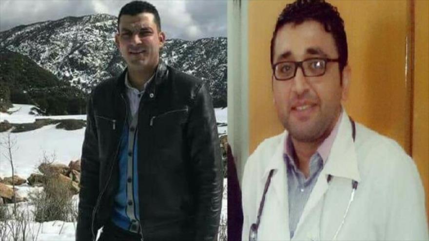 Los científicos palestinos, Soleiman Muhamad al-Fara (izda.) y Muhamad Hamid al-Banna.