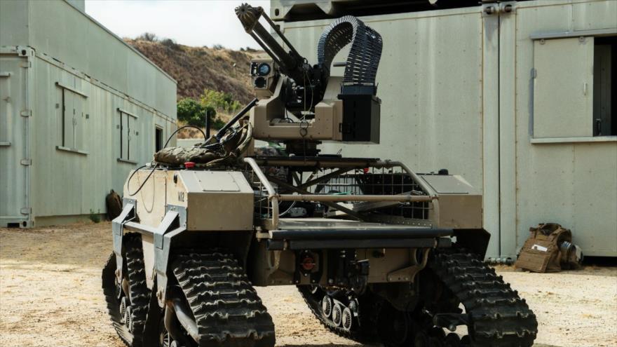 Un tanque no tripulado del Ejército estadounidense diseñado para dar apoyo a la Infantería de EE.UU.