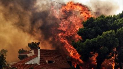 Graves incendios forestales en Grecia dejan 50 muertos y 172 heridos