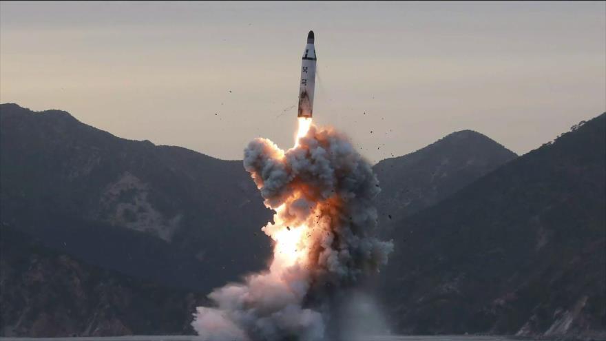 Corea del Norte derrumba una base de lanzamiento de misiles
