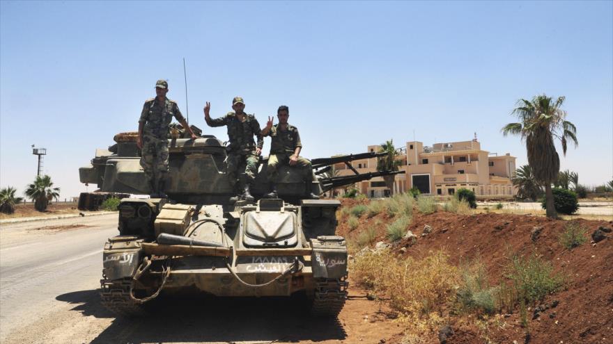 Ejército sirio avanza por el sur y libera una veintena de localidades