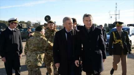 Argentinos denuncian: Reforma militar de Macri busca más represión