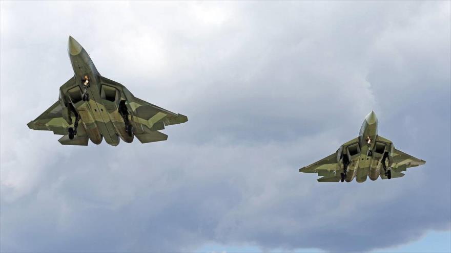 Caza ruso de 5.ª generación detecta F-35 y F-22 de EEUU en Siria