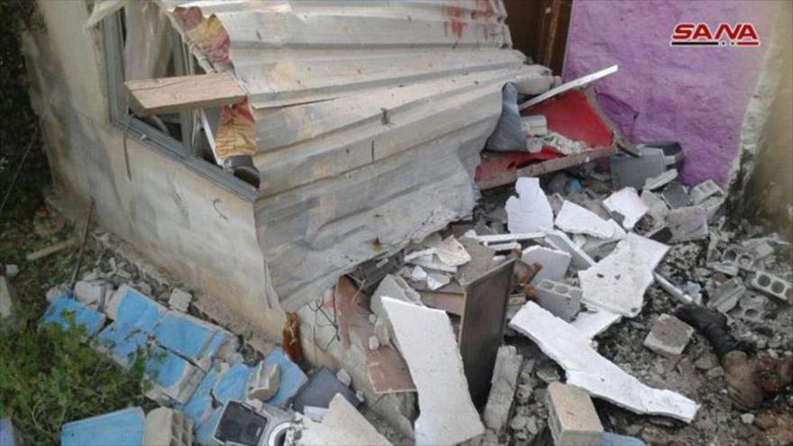El lugar donde se produjo el atentado suicida en la ciudad de Al-Sweida, en el sur de Siria, 25 de junio de 2018.