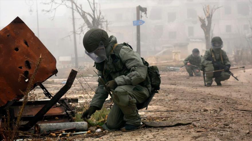 Shoigu dice que zapadores rusos desminaron 17 000 edificios en Siria