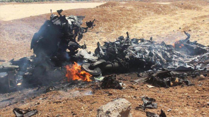 Daesh difunde supuestas fotos del Sujói sirio derribado por Israel