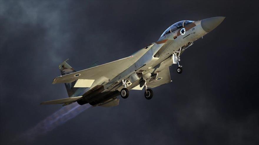 Un bombardero F-15 del ejército israelí.