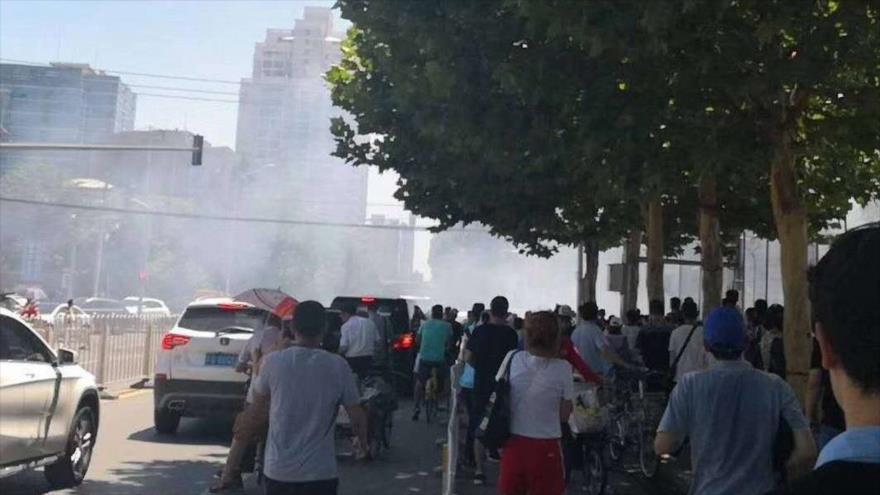 Una explosión sacude la embajada de EEUU en China