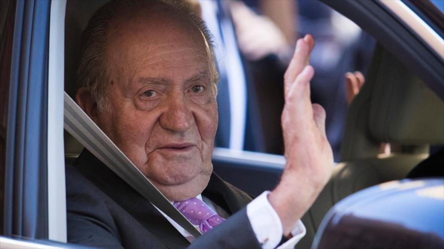 El rey emérito de España, Juan Carlos I, en Mallorca, 1 de abril de 2018.