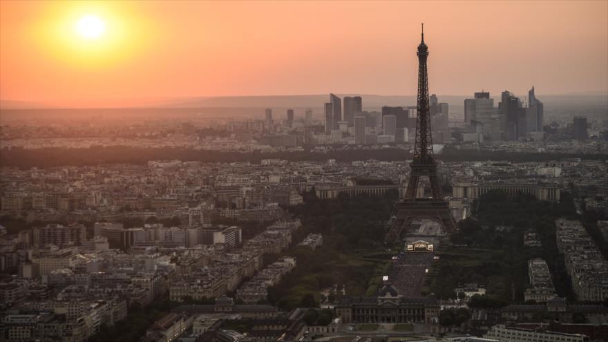 Vista general de la torre Eiffel, París, 14 de julio de 2018.