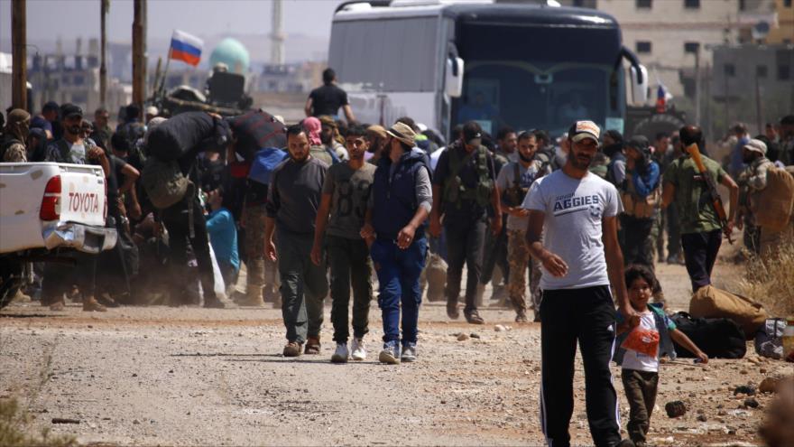 Vídeo: más rebeldes se unen al Ejército sirio en Daraa