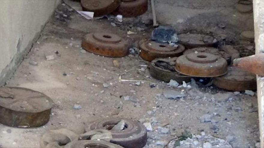 Ejército sirio halla munición en un escondite de los cascos blancos