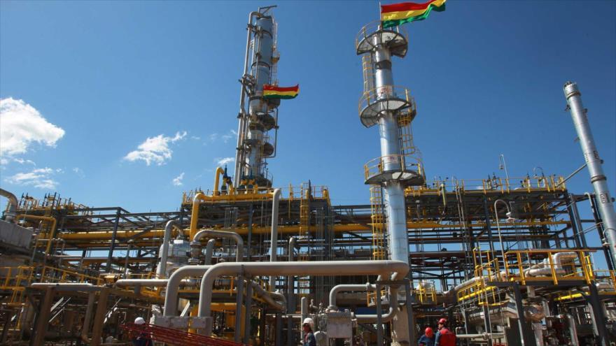 Una planta de gas de YPFB (Yacimientos Petrolíferos Fiscales Bolivianos).