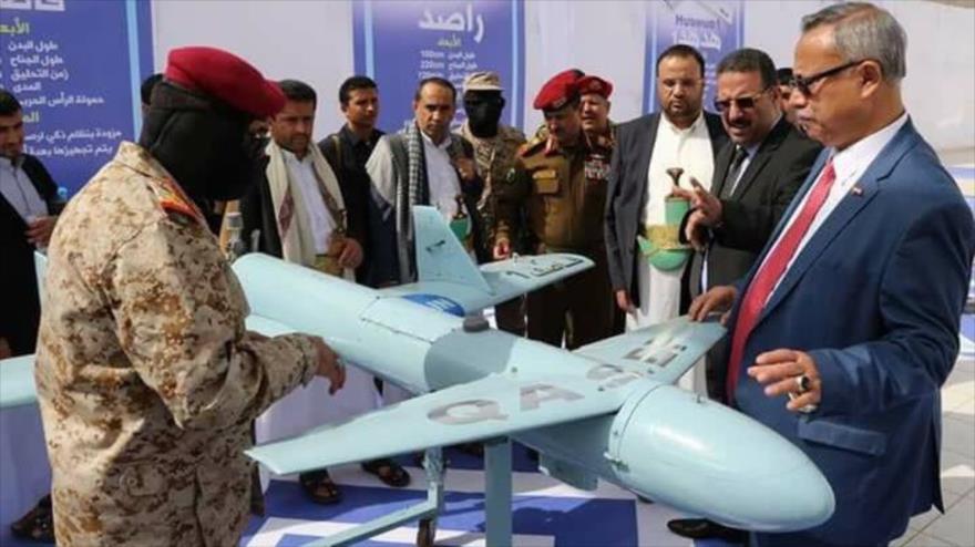 El dron yemení Qasef, de fabricación nacional.