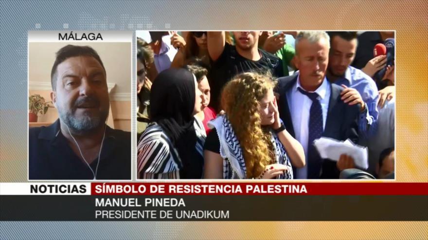 Pineda: Tamimi se convierte en símbolo de resistencia palestina