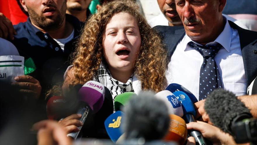 Ahed Tamimi llama a luchar hasta el fin de la ocupación israelí