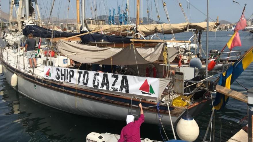 La flotilla de la Libertad se dirige a la costa de Gaza para romper el bloqueo al enclave costero.