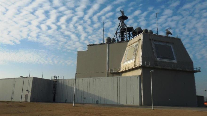 La estación antimisiles de EE.UU. Aegis Ashore en la base militar de Deveselu, Rumanía.