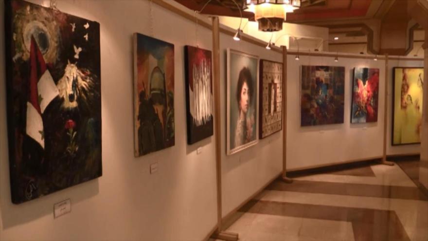 Abre sus puertas una exposición de arte comprometido en Damasco